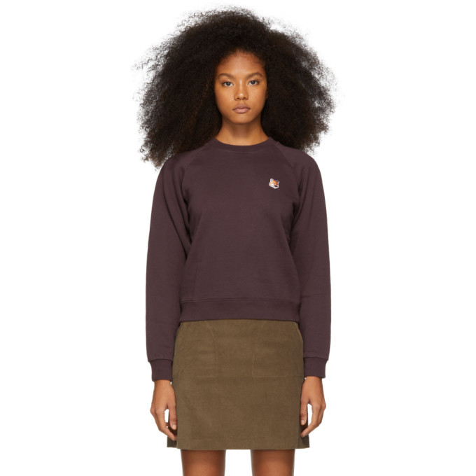 Photo: Maison Kitsune Purple Fox Head Patch Sweatshirt