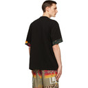 Sacai Black Mix Print Archive T-Shirt