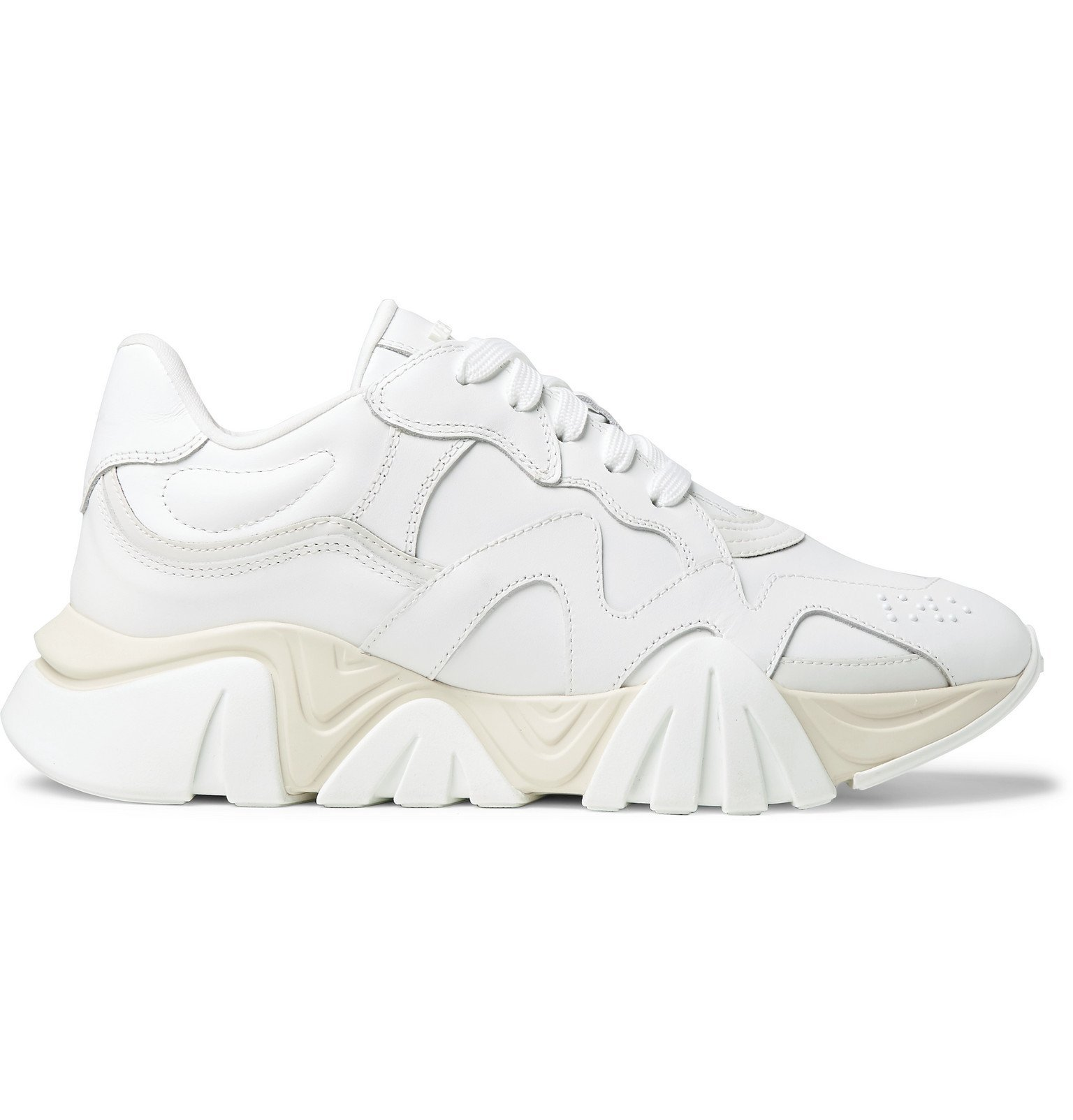 Versace - Squalo Leather Sneakers - White
