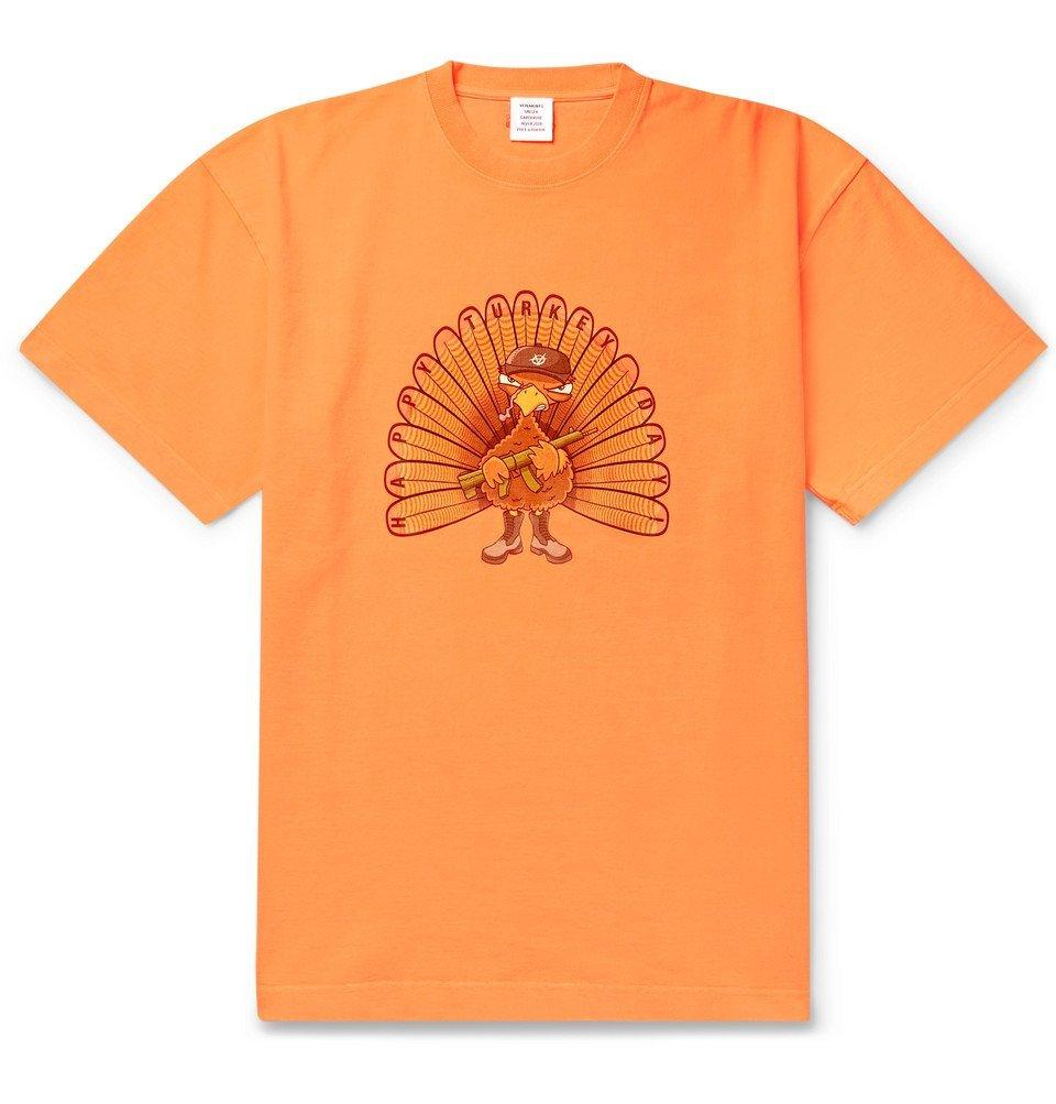 Photo: Vetements - Oversized Printed Cotton-Jersey T-Shirt - Orange