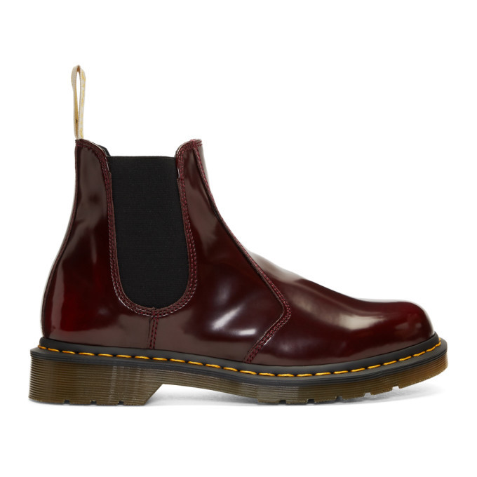 Photo: Dr. Martens Red 2976 Vegan Chelsea Boots
