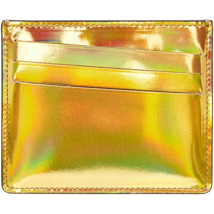 Photo: Maison Margiela Gold and Silver Metallic Bicolor Card Holder