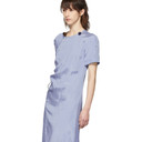 Nina Ricci Grey Satin Crinkled Dress