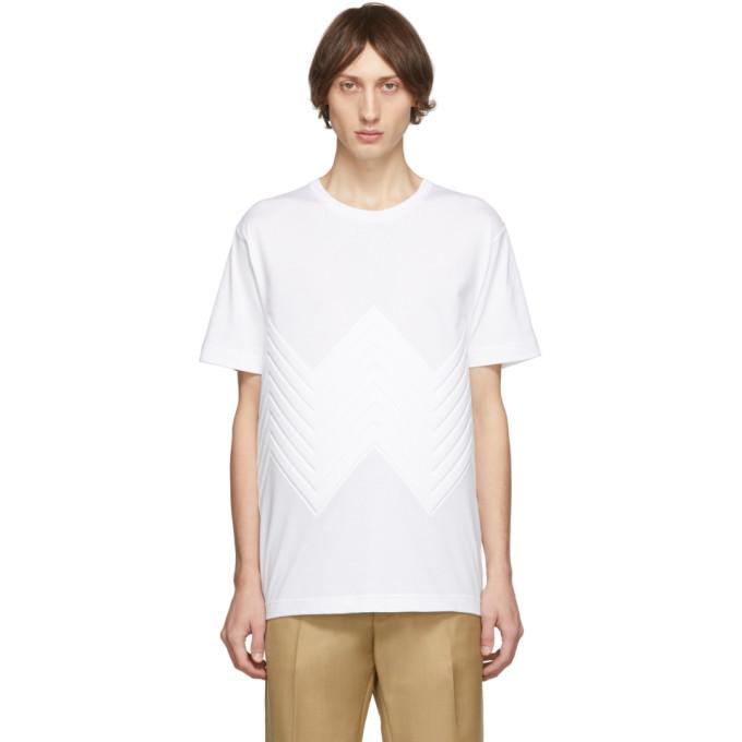 Photo: Bottega Veneta White Chevron Pressed T-Shirt