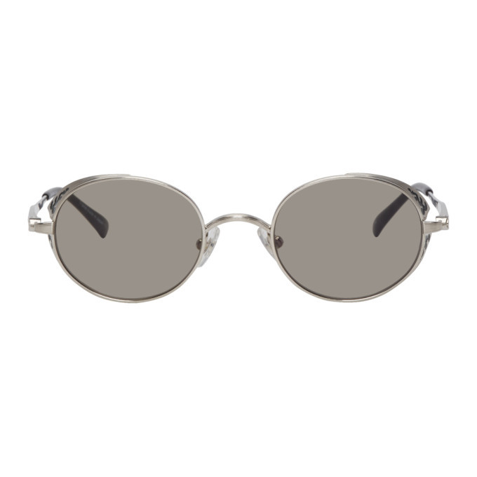 Photo: Matsuda Silver Brushed M3016 Sunglasses