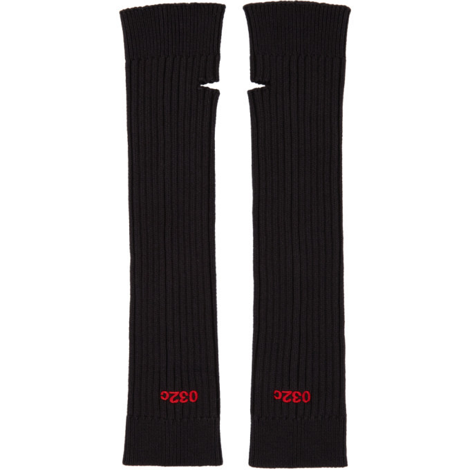 Photo: 032c Black and Red Embroidered Arm Warmers