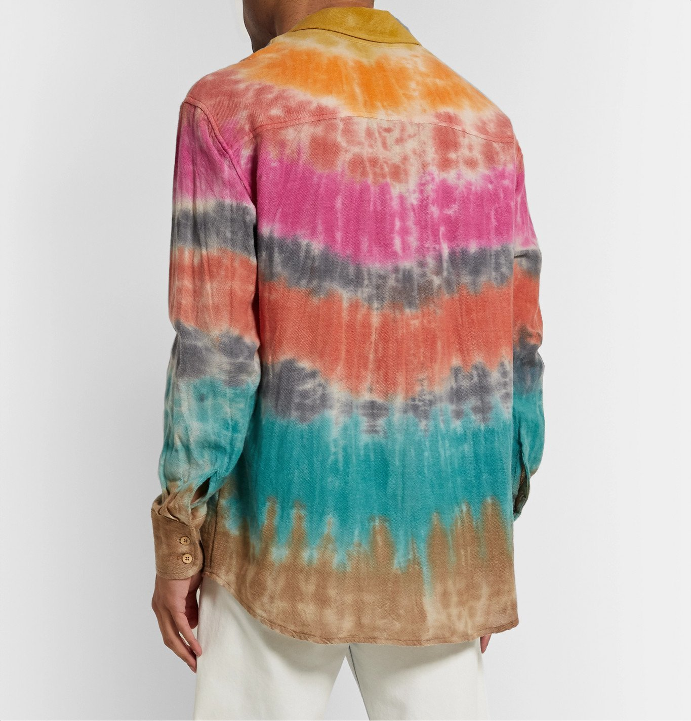 The Elder Statesman - Wacky Boomslang Tie-Dyed Wool, Cashmere and Cotton-Blend Shirt - Multi