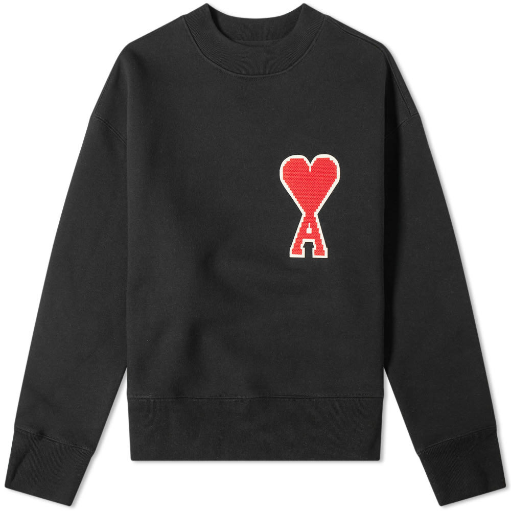 Photo: AMI Large Heart Patch Crew Sweat
