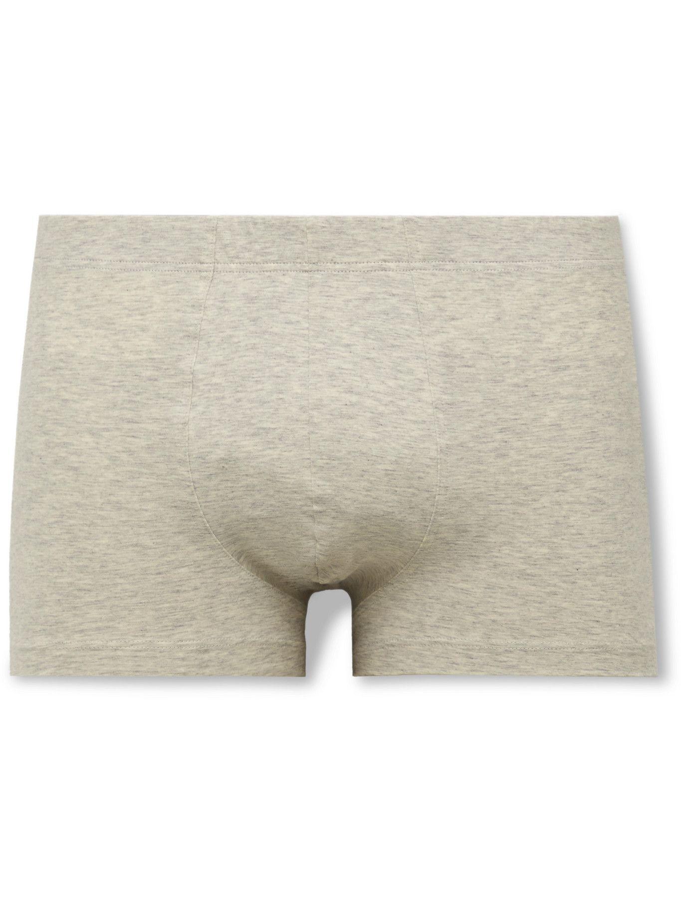 Photo: Hanro - Superior Cotton-Blend Boxer Briefs - Gray