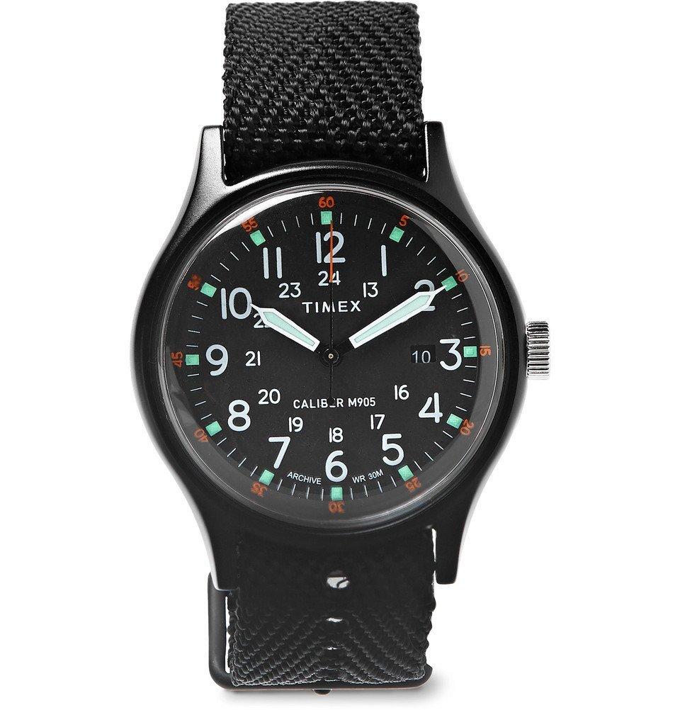 Photo: Timex - MK1 Aluminium and Nylon-Webbing Watch - Men - Black