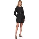 3.1 Phillip Lim Black Button-Down Belted Dress