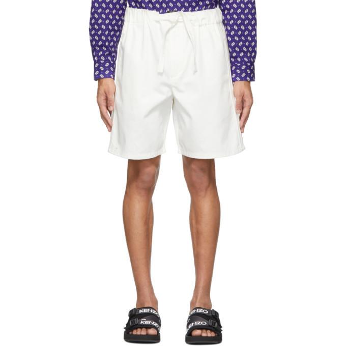 Photo: Kenzo Off-White Gabardine Belted Shorts
