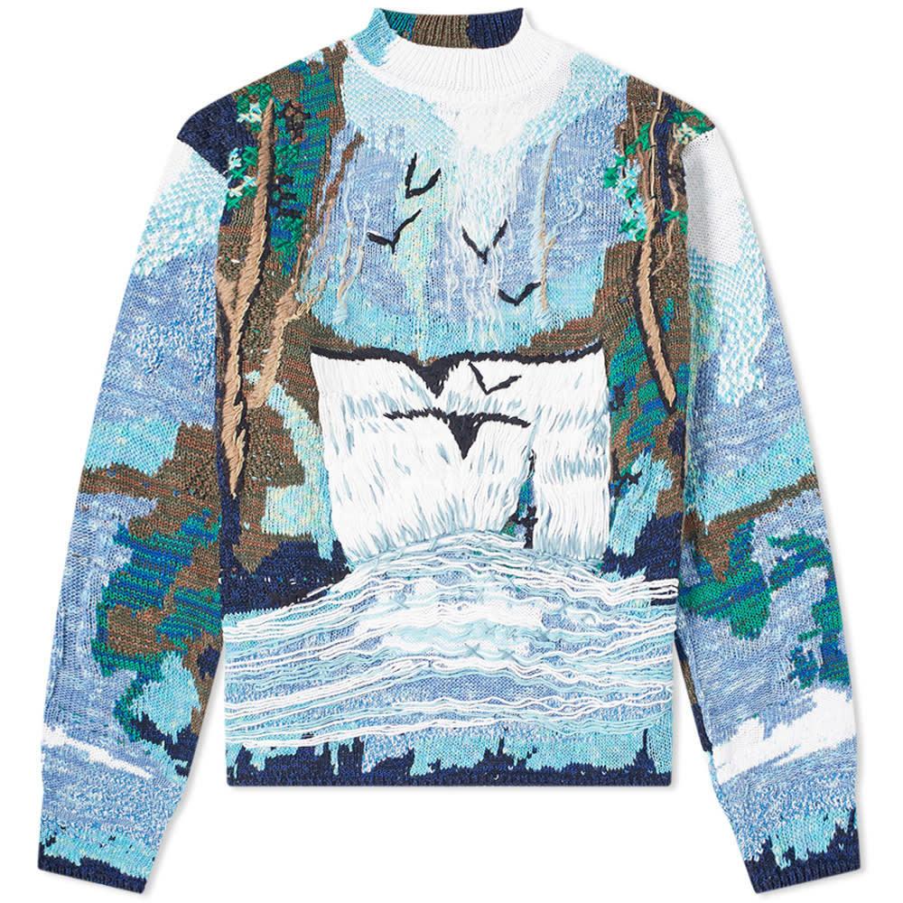 Off White Waterfall Print Sweatshirt |