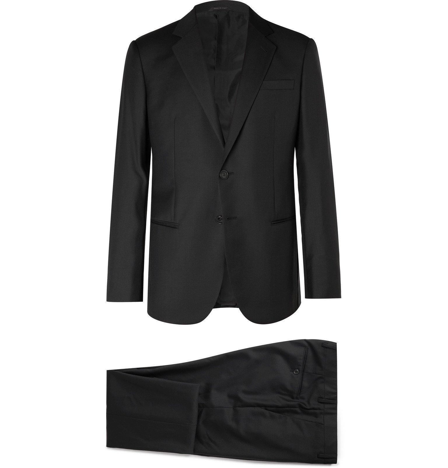 Giorgio Armani - Black Slim-Fit Virgin Wool and Cashmere-Blend Suit - Black