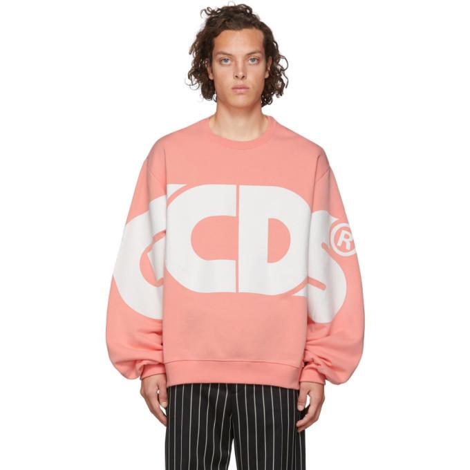 Photo: GCDS Pink Huge Logo Sweatshirt
