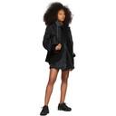 Sacai Black Spongy Sweatshirt Dress