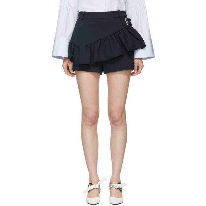 3.1 Phillip Lim Black Ruffle Apron Shorts