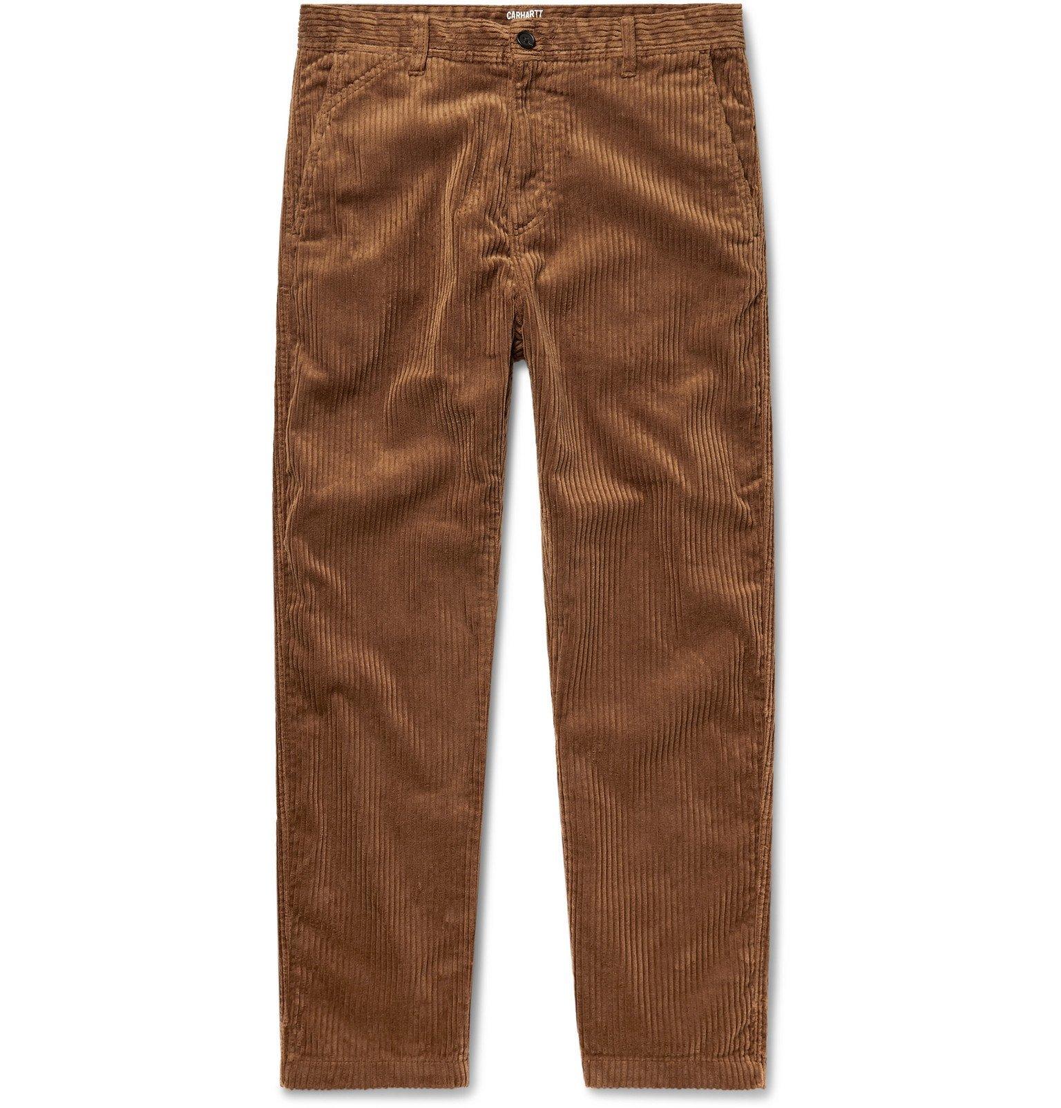 Photo: Carhartt WIP - Menson Cotton-Blend Corduroy Trousers - Brown