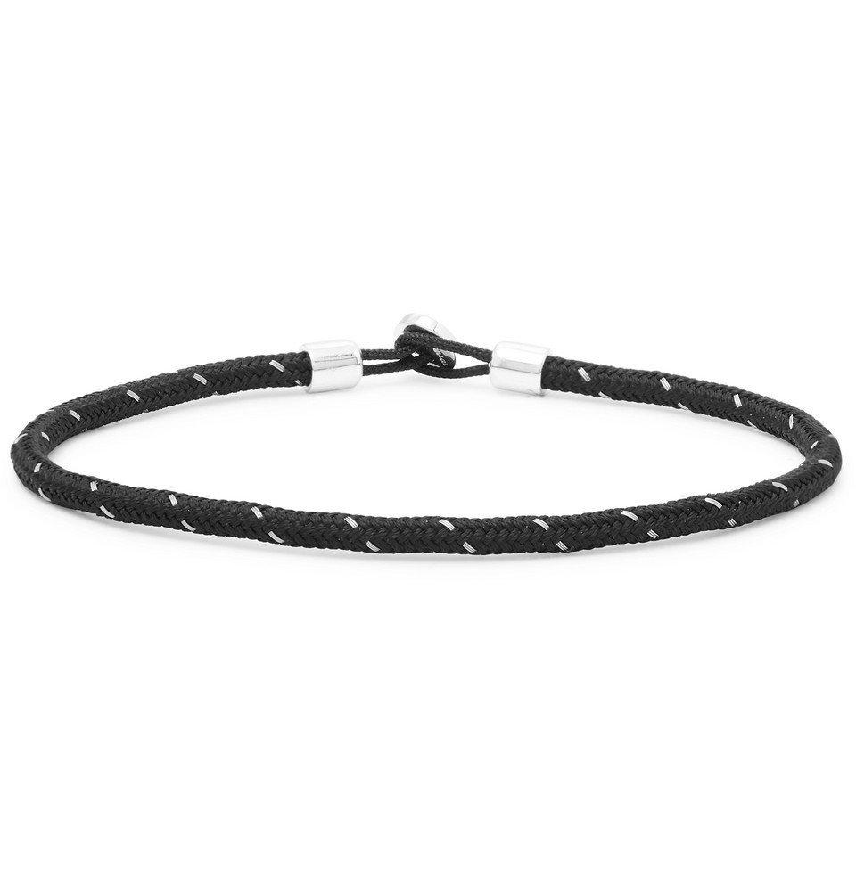 Photo: Miansai - Nexus Sterling Silver and Cord Bracelet - Black