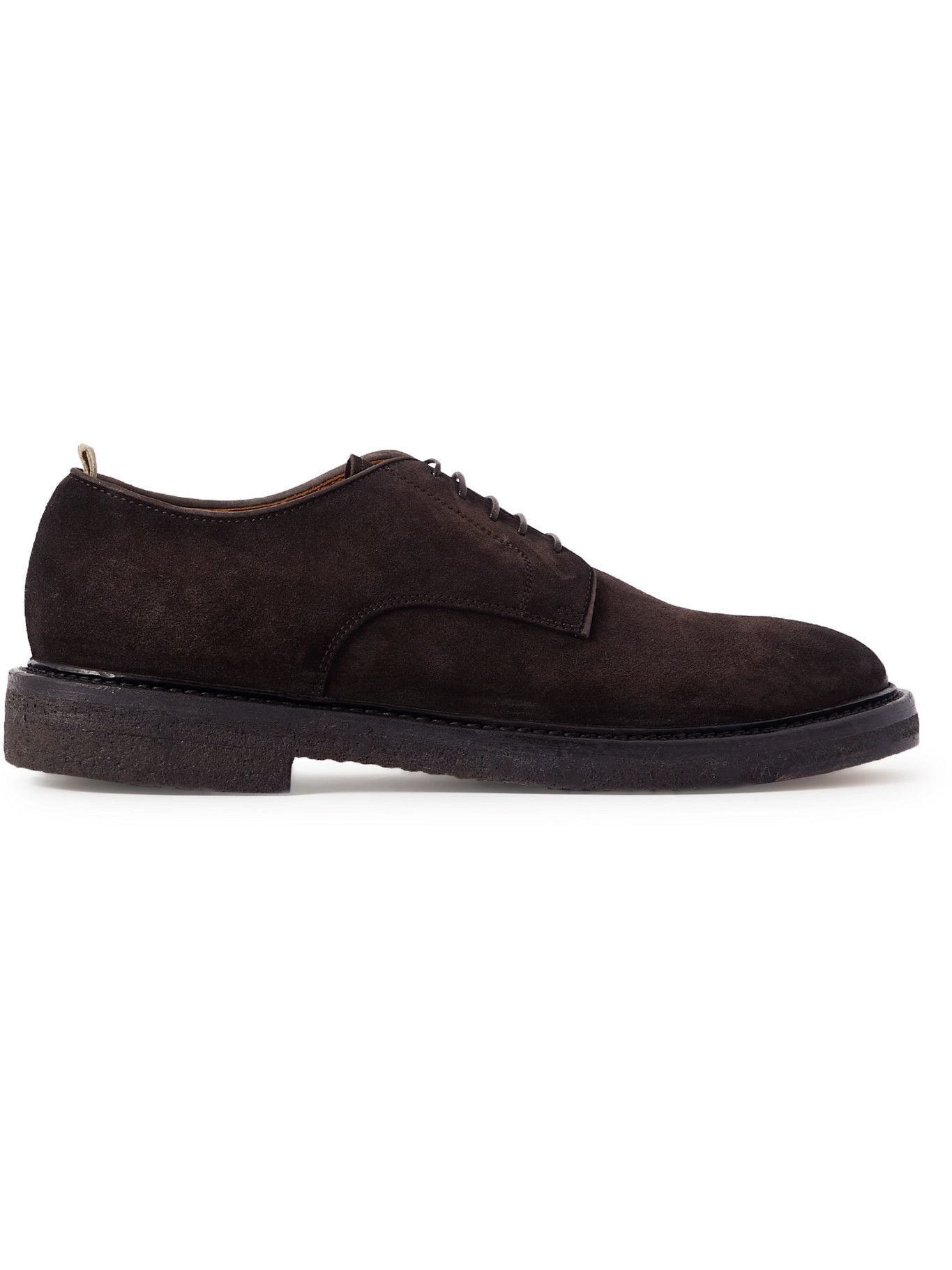 Photo: OFFICINE CREATIVE - Hopkins Suede Derby Shoes - Brown