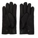 RRL Black Leather Officers Gloves