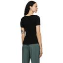 3.1 Phillip Lim Black Merino Rib Knit T-Shirt