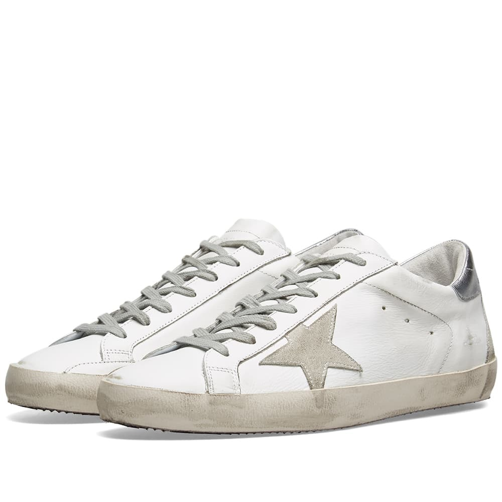 Photo: Golden Goose Deluxe Brand Superstar Leather Sneaker White & Silver