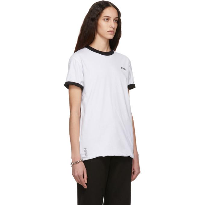 032c Reversible Black and White Cosmic Workshop Logo T-Shirt
