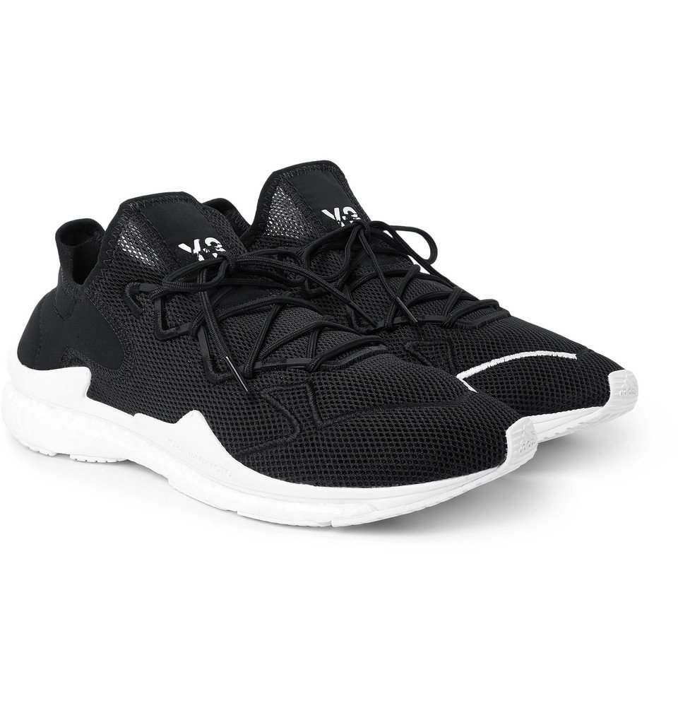 Photo: Y-3 - Adizero Runner Neoprene-Trimmed Mesh Sneakers - Black