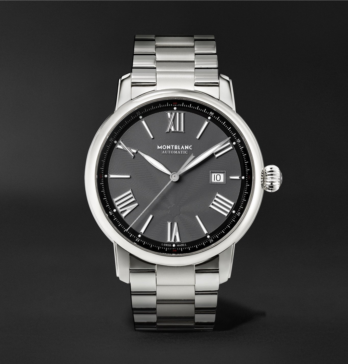 Photo: Montblanc - Star Legacy Automatic 43mm Stainless Steel Watch, Ref. No. 126107 - Gray