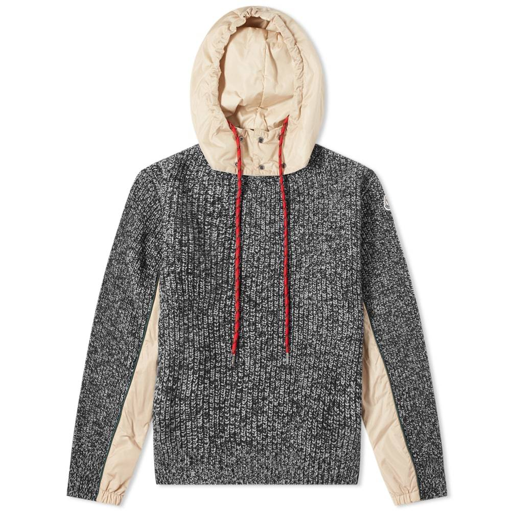 Photo: Moncler Hooded Knitted Marl Knit