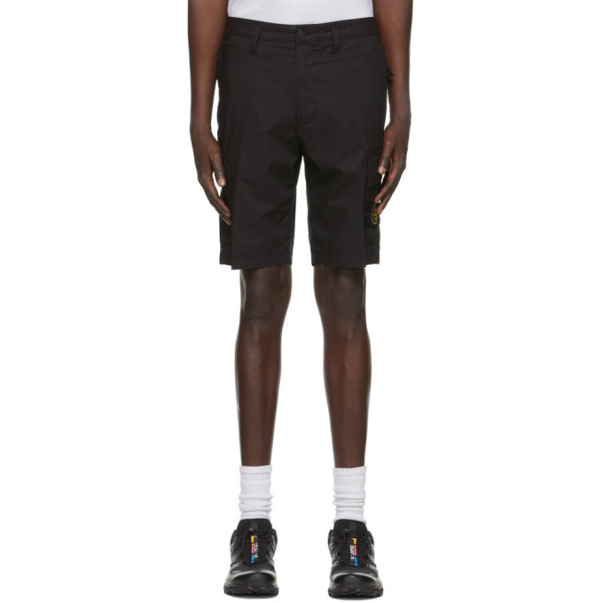 Stone Island Black Patch Bermuda Shorts