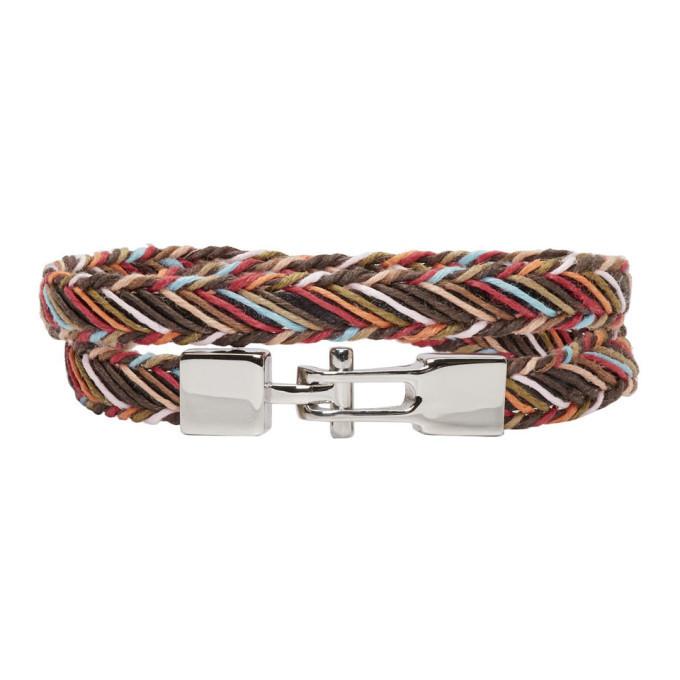 Photo: Paul Smith Multicolor Double Strap Multistripe Bracelet