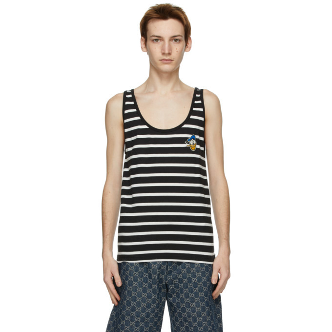 Photo: Gucci Black and White Disney Edition Donald Duck Tank Top