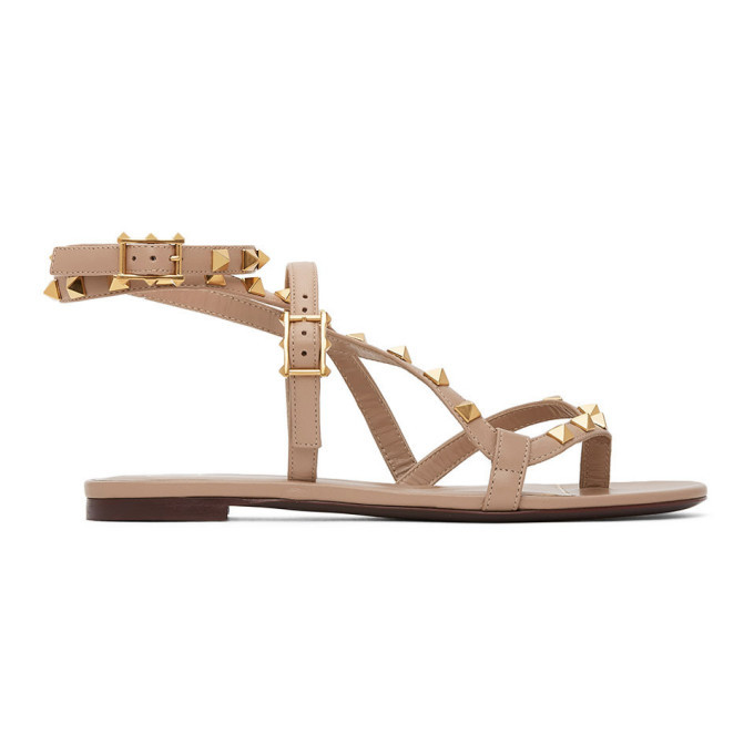 Photo: Valentino Pink Valentino Garavani Rockstud Flair Thong Sandals