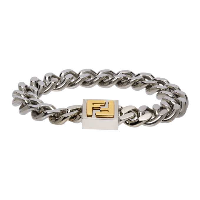 Photo: Fendi Silver and Gold FF Bracelet