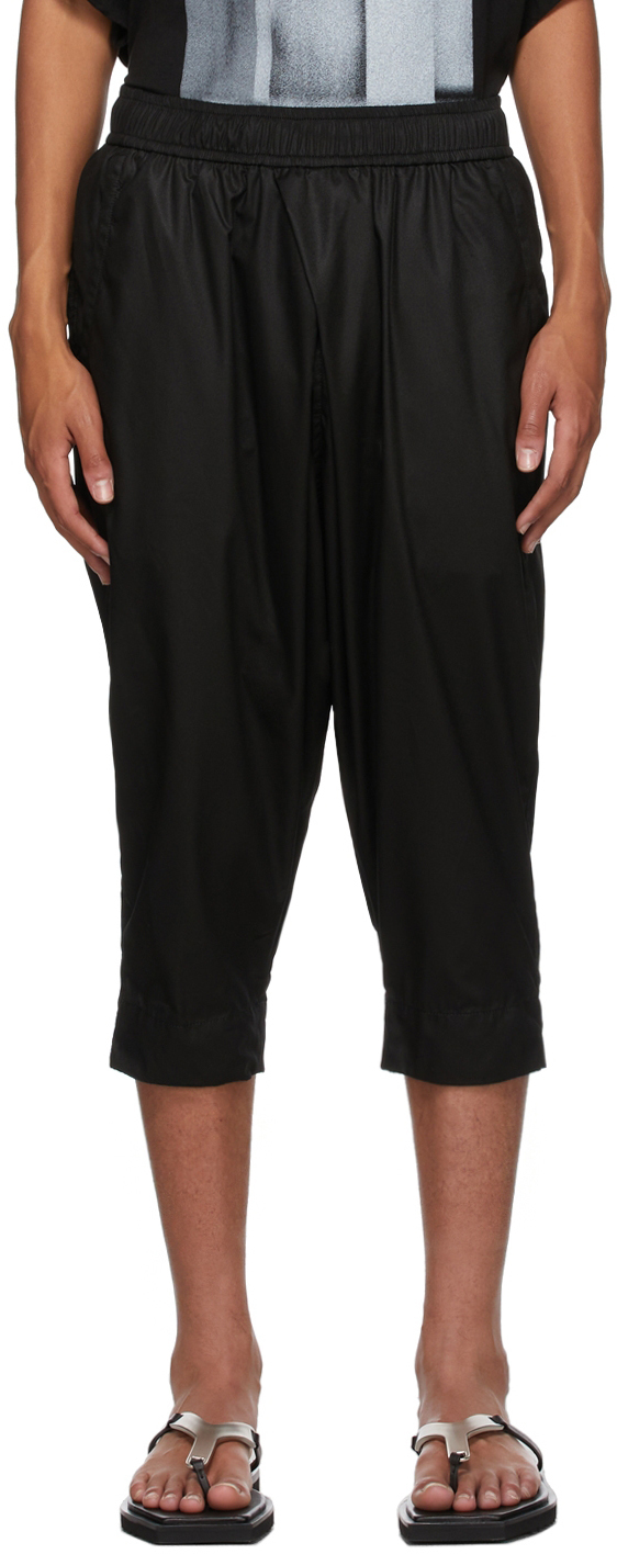 Photo: Julius Black Tucked Cropped Trousers
