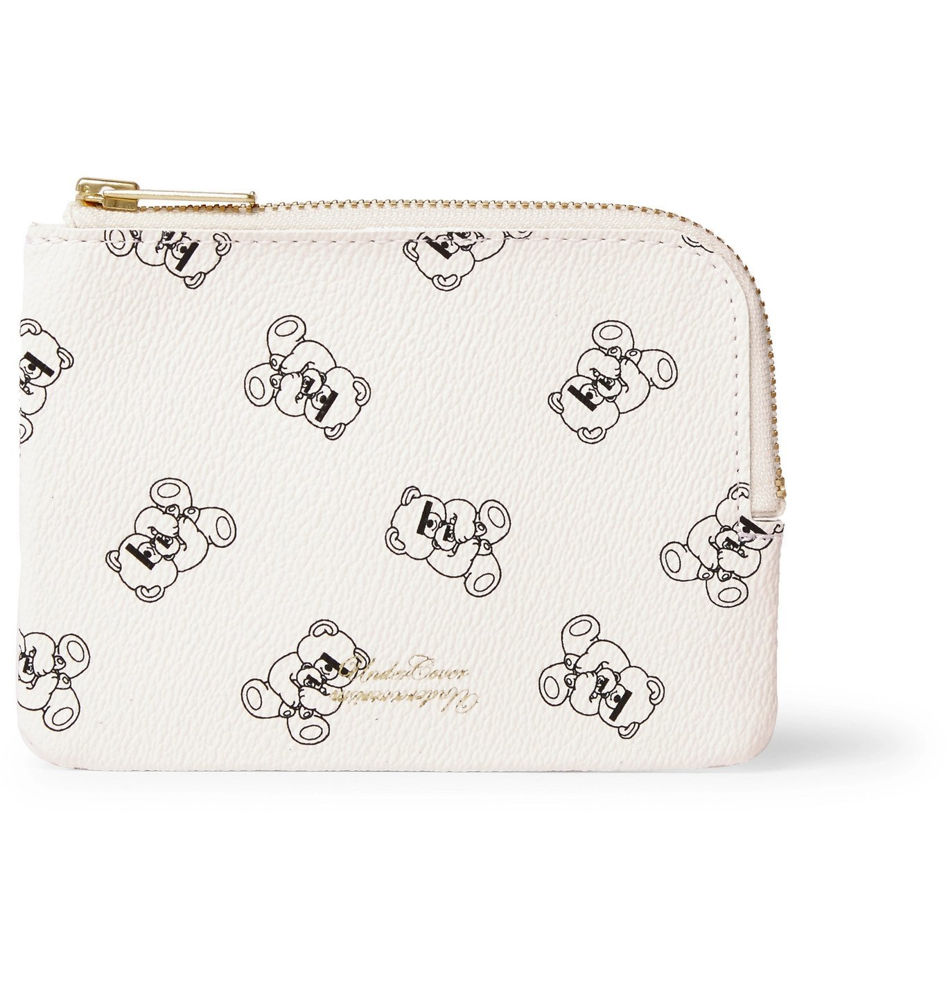 Photo: Undercover - UBEAR Printed Faux Leather Wallet - White