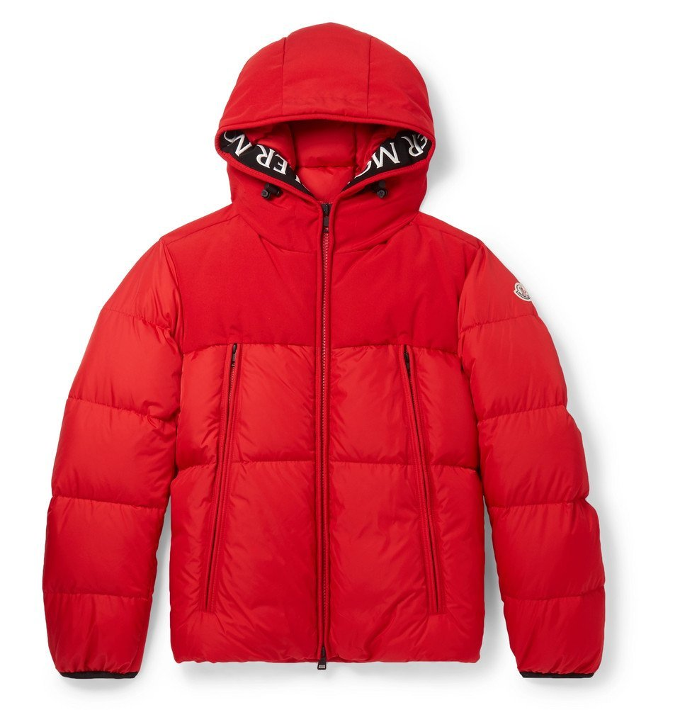 Photo: Moncler - Montclar Grosgrain-Trimmed Quilted Shell Hooded Down Jacket - Red
