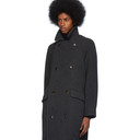 Giorgio Armani Grey Cashmere Oversized Belted Coat