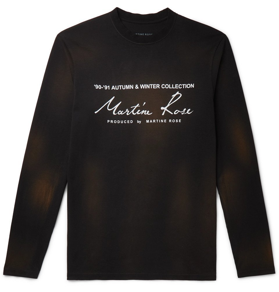 Photo: Martine Rose - Logo-Print Cotton-Jersey T-Shirt - Black