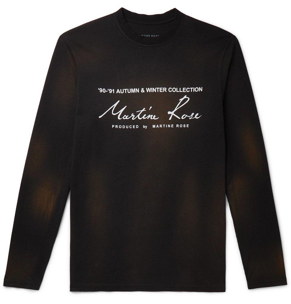 Martine Rose - Logo-Print Cotton-Jersey T-Shirt - Black