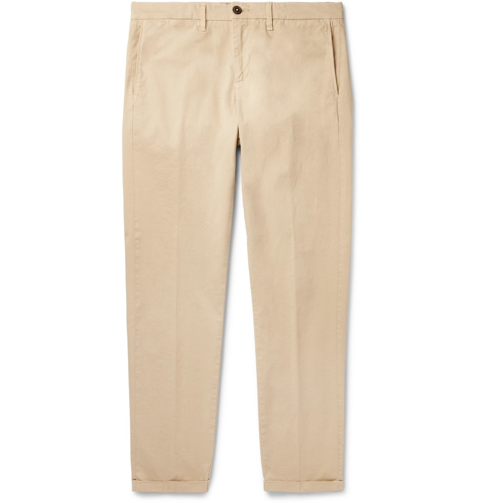 Photo: Tod's - Slim-Fit Stretch-Cotton Twill Chinos - Neutrals