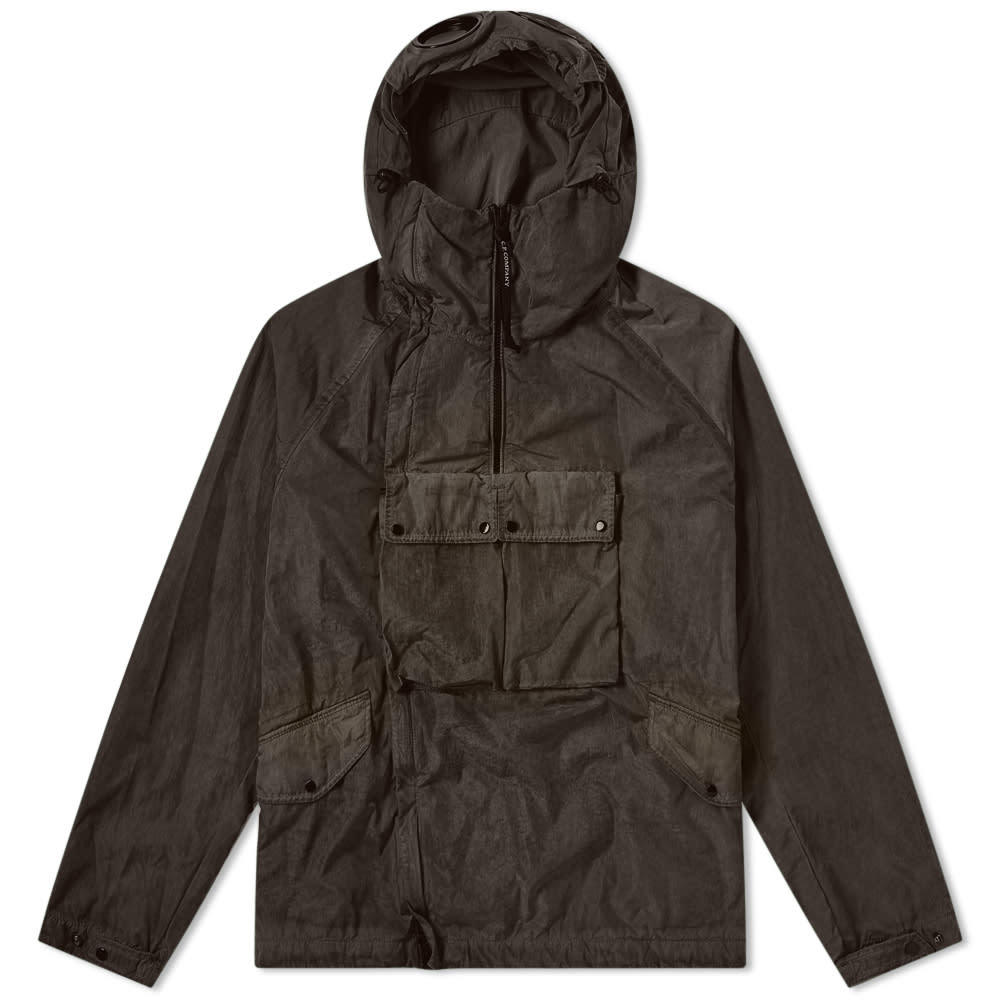 C.P. Company Chrome Re-Colour Popover Goggle Jacket Raven Grey