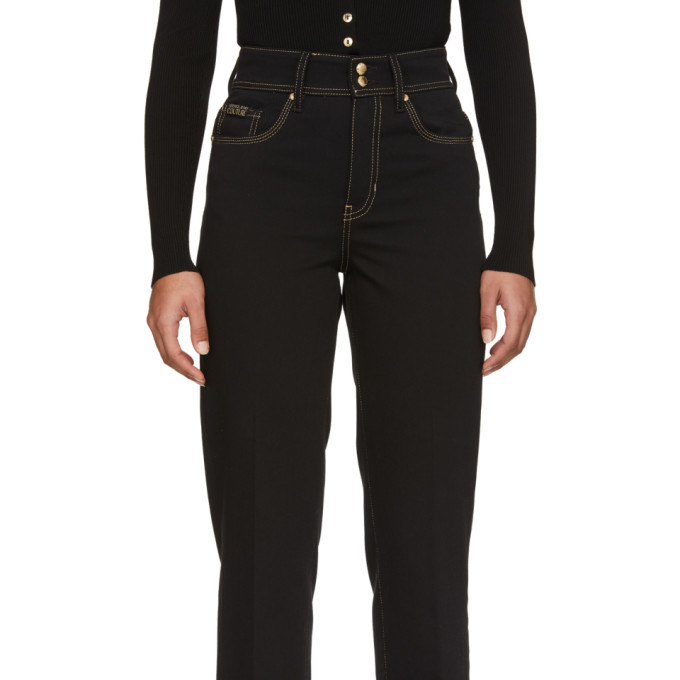 Versace Jeans Couture Black Denim Straight-Leg Jeans