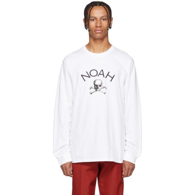 Photo: Noah NYC White Jolly Roger Long Sleeve T-Shirt