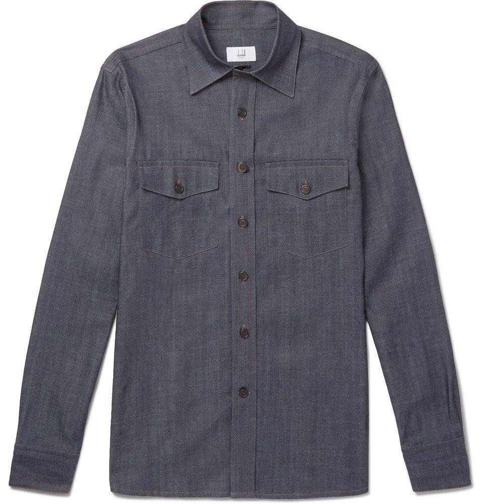 Dunhill - Slim-Fit Denim Shirt - Men - Indigo