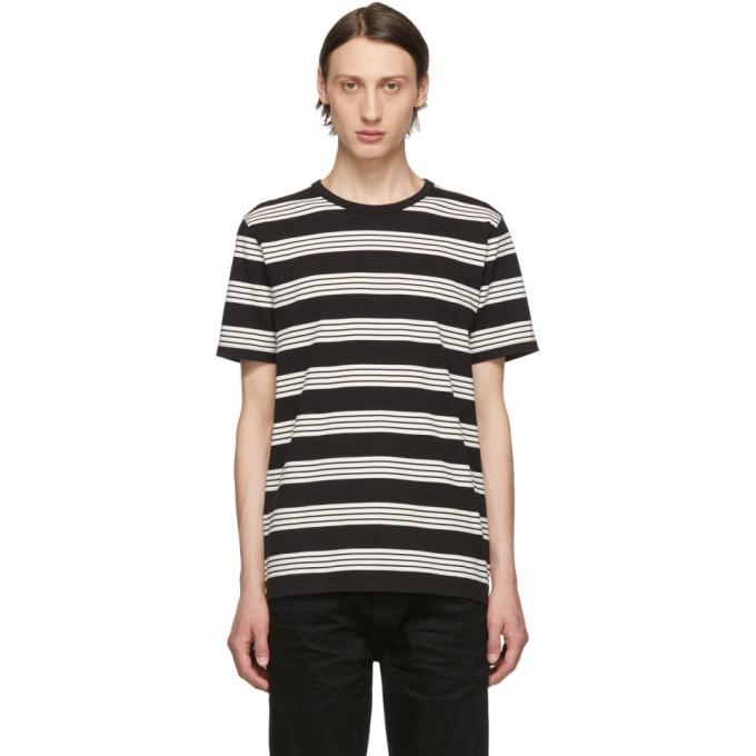 Photo: Frame Black Yarn Dye Crew T-Shirt