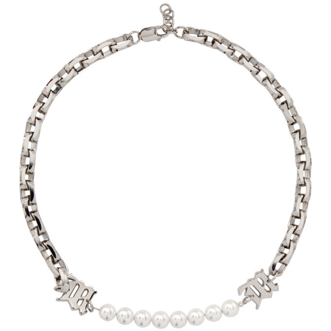 Photo: MISBHV Silver Pearl Insert Chain Necklace