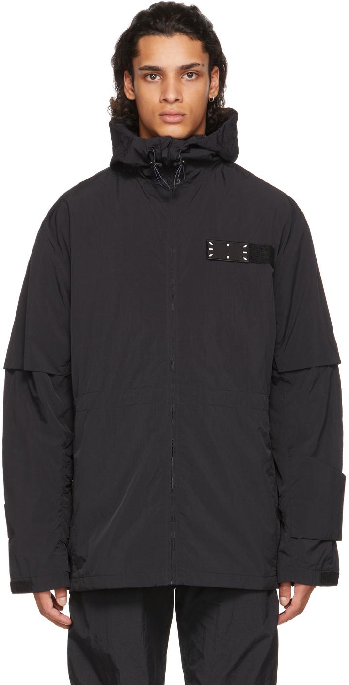 Photo: MCQ Black Flash Drawstring Jacket